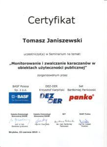 Monitorowanie i zwalczanie karaczanów w obiektach użyteczności publicznej